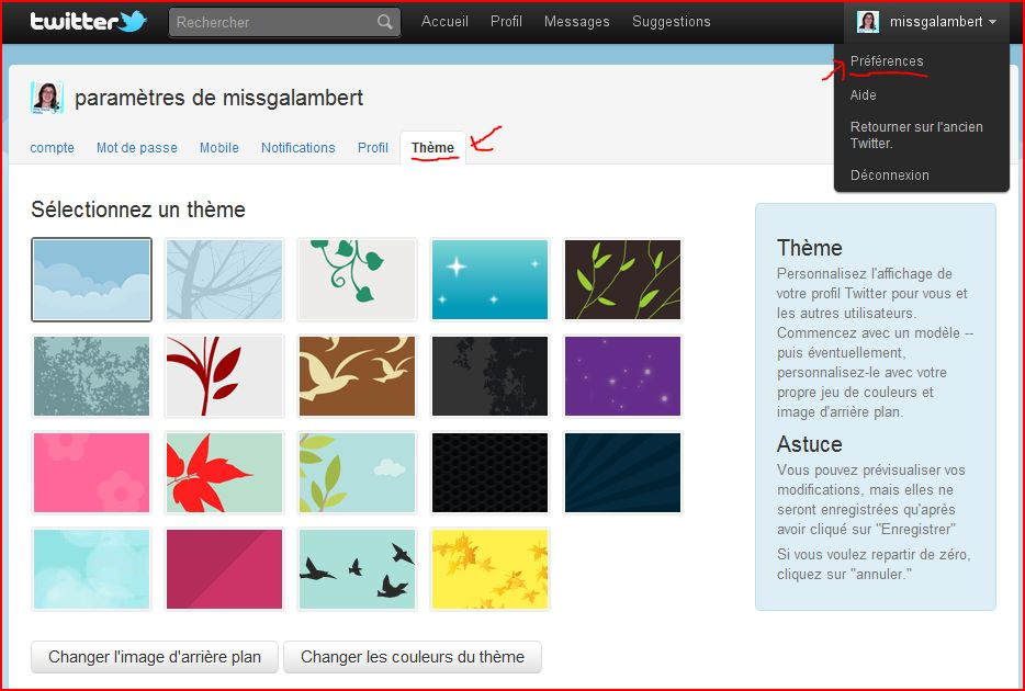 Compte twitter comment en cr er en images - Comment faire une pagination sur open office ...
