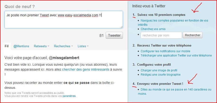 slide 112 Comment créer un compte Twitter, 5 étapes en images