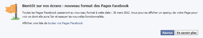 aperçu nouvelle version facebook