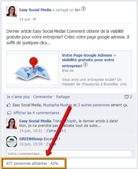 fonctionnalité visibilité facebook