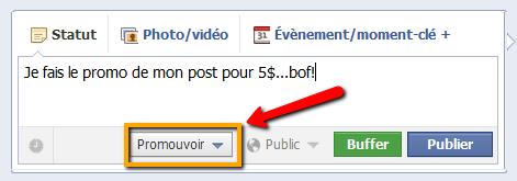 fonctionnalité facebook actualités sposorisées