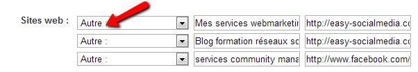 profil Linkedin site web