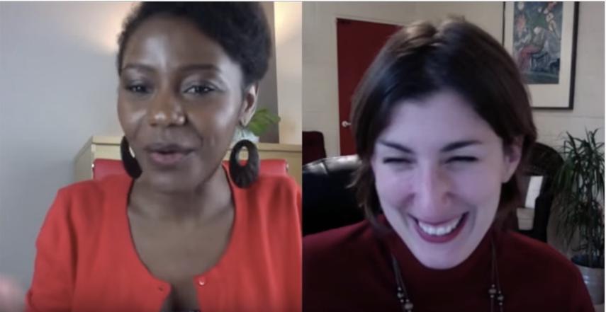 interview Henriette Nendaka et Laurence Galambert