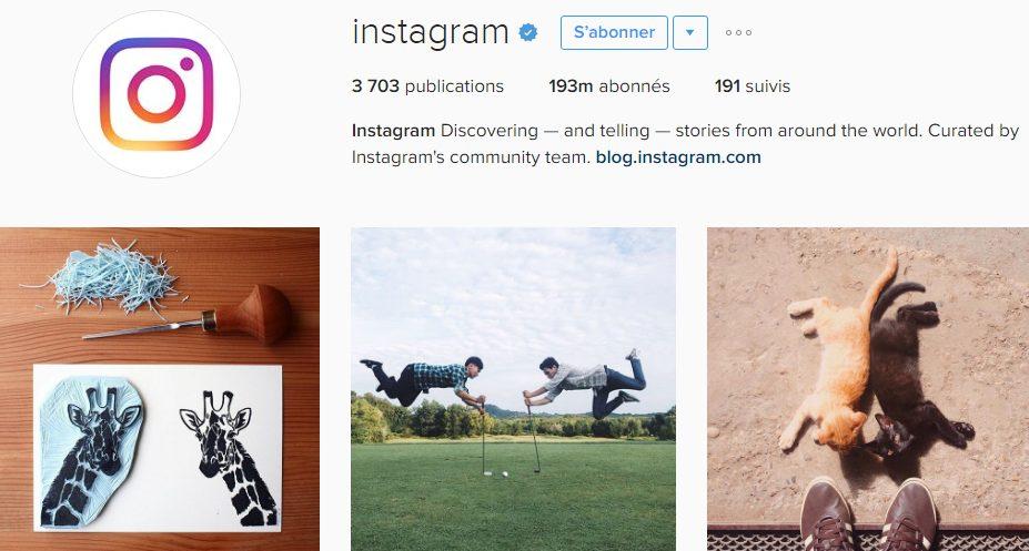 instagram pour votre activite